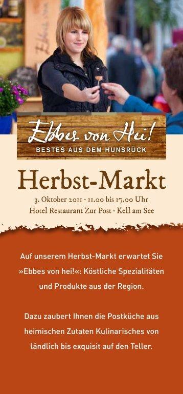 Herbst-Markt - Hotel Zur Post