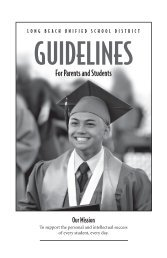 Parent Guidelines - Long Beach Unified School District