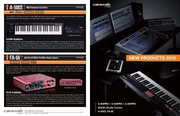 NEW PRODUCTS 2010 - Notape