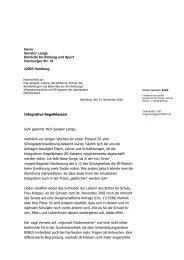 Offener Brief der GAL-Fraktionsvorsitzenden zum Erhalt der IR ...