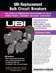 UBI Replacement Bulk Circuit Breakers - Connecticut Electric