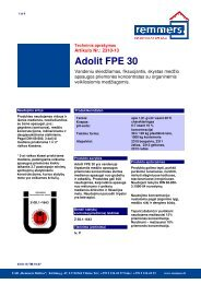 Adolit FPE 30 - Remmers Baltica