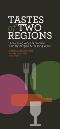 TasTes of Two Regions - Winemakers of Rutherglen