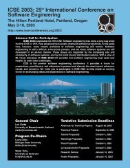 ICSE 2003: 25th International Conference on Software Engineering