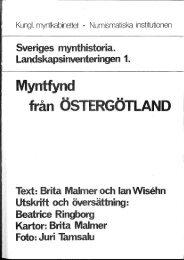 Östergötland referenser - Kungl. Myntkabinettet