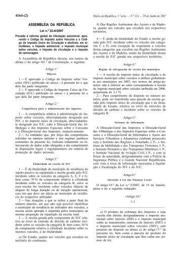 Lei n.º 22-A/2007 - Instituto do Desporto de Portugal