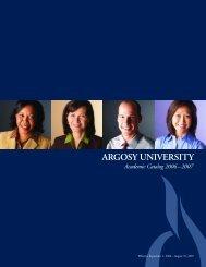 Academic Catalog 2006-2007 - Argosy University