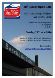 Official Programme Northern Open 2014