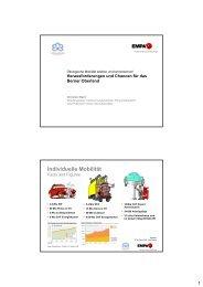 Individuelle Mobilität - Volkswirtschaft Berner Oberland