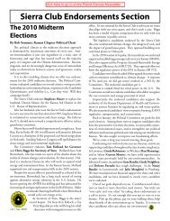 Sierra Club Endorsements Section The 2010 Midterm Elections