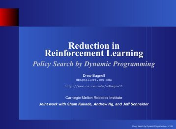 Policy Search by Dynamic Programming