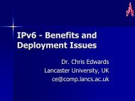 IPv6 - Benefits and Deployment Issues - 6NET