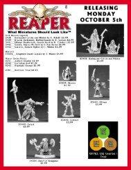 10-04-09 Mailer - Reaper Miniatures