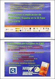 Actuaciones e implicaciones de EUROPARC-España en la segunda ...