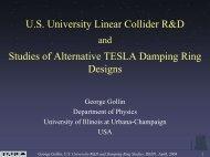 U.S. University Linear Collider R&D and Studies of Alternative ...