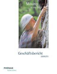 Geschäftsbericht 2000/01 - Sonova Holding AG