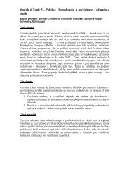 Module 6 Topic 5 – Politika , Demokracie a participace ... - EUROlocal