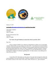 Notice of Legal Violations in connection with Coyote Drive 2013 to ...