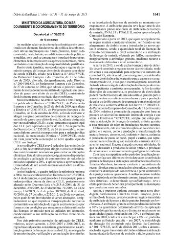 Decreto-Lei n.º 38/2013 - Diário da República Electrónico