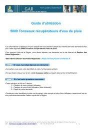 Guide d'utilisation 5000 Tonneaux récupérateurs d'eau de pluie