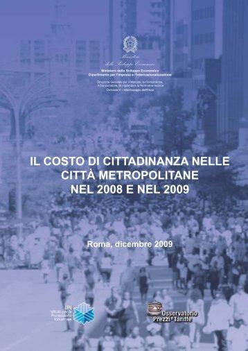 Rapporto 2008-2009 sul Costo della cittadinanza nelle città ...