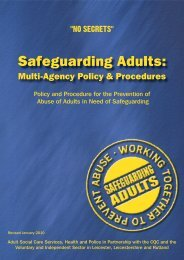 Multi-Agency Policy and Procedures - Rutland County Council