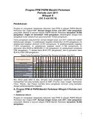 Progres PPM P2KP Periode Juli 2007