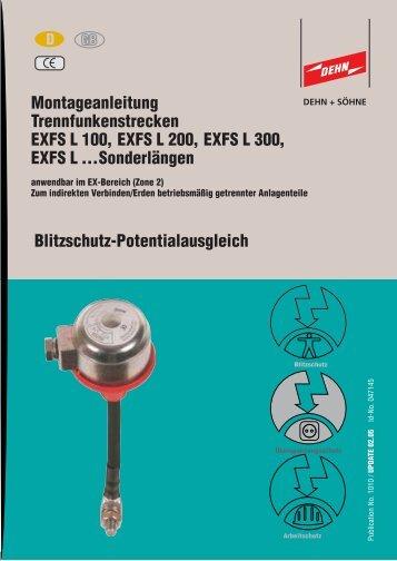 Montageanleitung Trennfunkenstrecken EXFS L 100 ... - EuroVolt