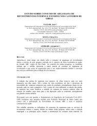 ESTUDO SOBRE CONSUMO DE ARGAMASSA DE ... - Globalconstroi