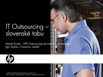 IT Outsourcing – slovenské tabu - eFOCUS
