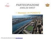 analisi SWOT municipio 7 PONENTE - Urban Center