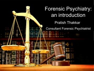 Introduction to Forensic Psychiatry - Northern Deanery