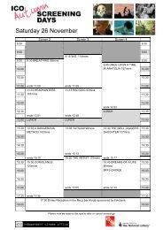 Saturday 26 November - Independent Cinema Office