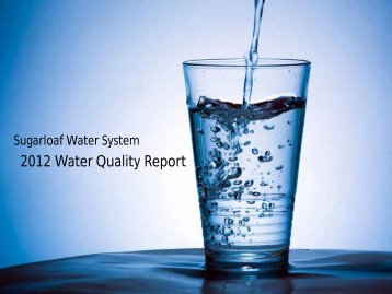 2010 Annual Water Quality Report - Sugarloaf Water System