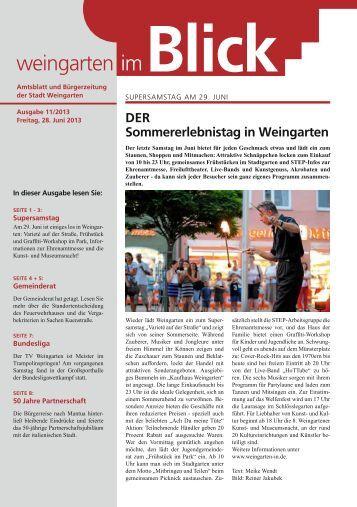 Ausgabe 11/2013 - Weingarten im Blick