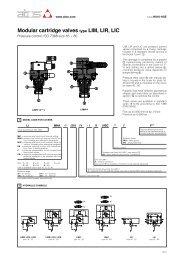 Modular cartridge valves type LIM, LIR, LIC