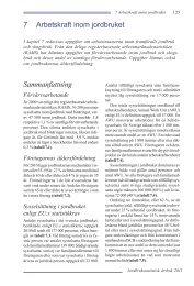7 Arbetskraft inom jordbruket Sammanfattning - Jordbruksverket
