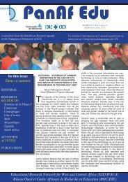 Newsletter / Bulletin d'information PanAf Edu vol. 2, n°3 - ERNWACA