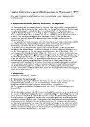 Unsere Allgemeinen Vermietbedingungen für Wohnwagen (AVB)