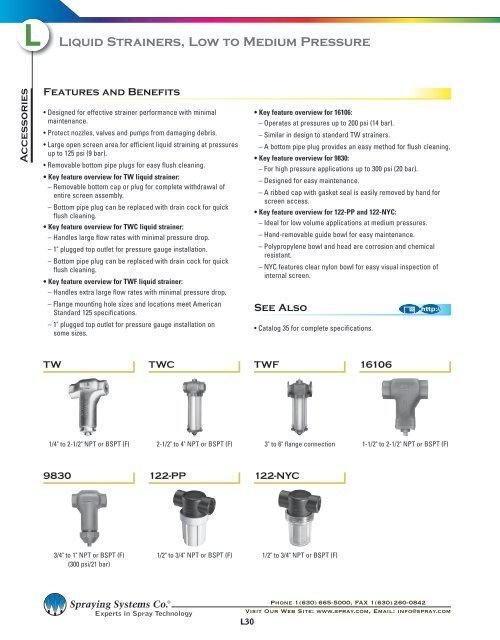 L30 - Liquid Strainers, Low to Medium Pressure
