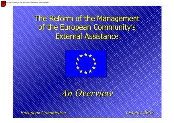 Reform of the Management of the Commission's External ... - Crui