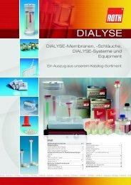 Schläuche, Dialyse-Systeme und Equipment - Carl Roth