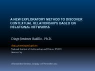 A new exploratory method to discover contextual relationships