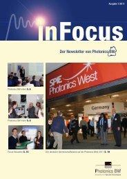 InFocus 1-2011: Der Newsletter von Photonics BW - Photonics BW eV