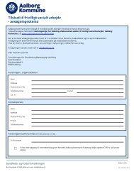 tilskud til frivilligt socialt arbejde - Aalborg Kommune