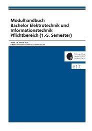 Modulhandbuch - Fachbereich Elektrotechnik und Informationstechnik