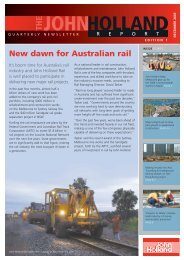 The John Holland Report, Quarterly Newsletter, Edition 1 - Leighton ...