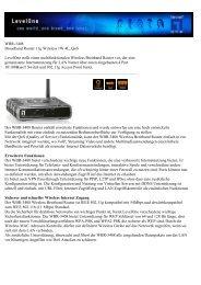 WBR-3408 Broadband Router 11g Wireless 1W 4L, QoS LevelOne ...