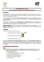 111107 informations utiles pour randonner dans le lot - Comité ...