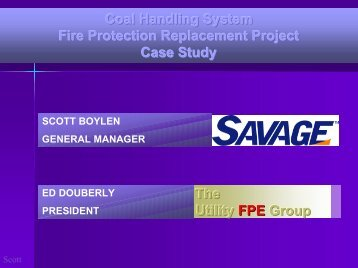 Coal Handling System Fire Protection Replacement Project Case ...